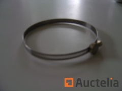 1 box of 100 Stainless steel hose clamps with full band 80 - 110 mm