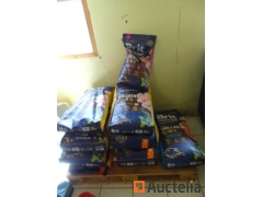 12 closed bags of dog food