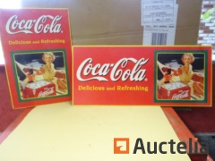 2 Coca-Cola cardboard advertising Posters