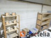 2 removable wood shelves, 2 on wheels wood shelves, paper binders and fillers