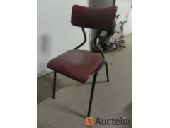 24 Chairs Metal Base seated in faux leather
