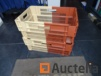 30 Storage boxes embo, plastic and stackable walls + opened caseback