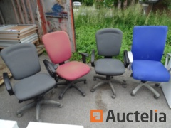 4 chairs Adjustable office table