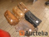5 Leather tool cases with hand tools various