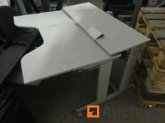 5 Office tables on wheels height adjustable SIS
