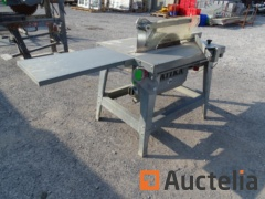 ATIKA construction table saw with back plate