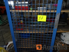 Blue Mesh cabinet on roulette with its contents