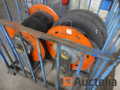 Coil for exhaust gas evacuation pipes