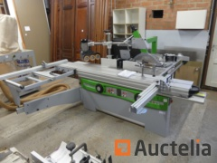 Combined sliding table panel saw/spindle moulder with 3-roll Felder KF 700 S