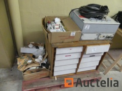Consumables various, small hand tools various, electric cabinet,...