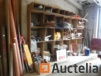 Contents of the shelf; Materials various, signage, ladder consoles, fittings PVC,...