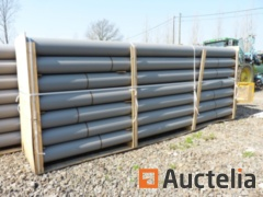 Drainage pipes in PVC 250 mm gray M / M with sleeve - 24 copies