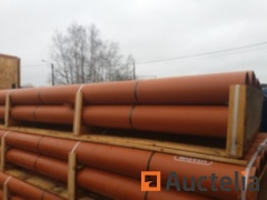 Drip pipes in PVC 250 mm orange M / M with sleeve - 12 copies