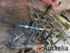Galvanized Cribs for drums, trolley for Petra drums
