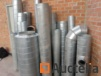 Galvanized ventilation ducts of various sizes