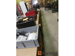 Hand tools various, fasteners, spare parts, jack stands, grease gun for keg,...