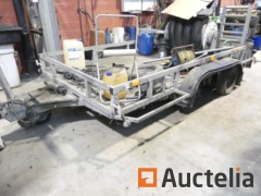 IFOR WILLIAMS Double-axle flatbed trailer - to be reconditioned (2000)