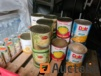 Lots of canned food (aillite restaurant)