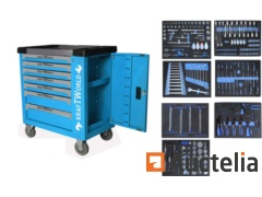 Mobile workshop trolley Kraftworld 7 Drawers all filled specialty tools
