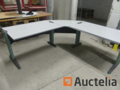 Office tables in L