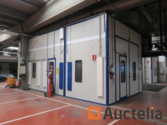 Paint booth with separation Sima 502