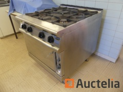 Professional stainless steel gas stove with 4 burners and oven ELECTROLUX ZCF/G8T0