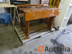 Schoolboy bench, Pedestal table, office table