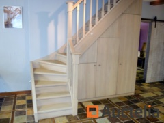 Showroom staircase solid oak