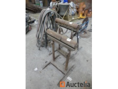 Strapping machine, roller jack stands, gas torch