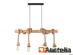 Suspension in wood and rope style seaside NEW