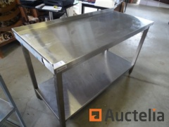 Table in stainless steel 140 x 60