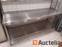 Table Stainless steel with shelf