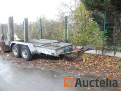 WAROQUIER BE6000 Double-axle flatbed trailer (1997)