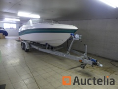 Boot Inboard vier WINNS HORIZON 200 met aanhanger Double Axle MARLIN TAB2700